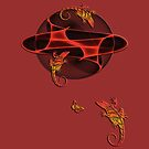 Fractal - Geckos - Butterfly by fuxart