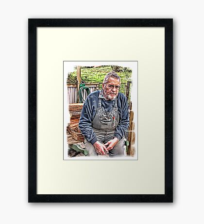 Portrait of a dear husband Framed Print