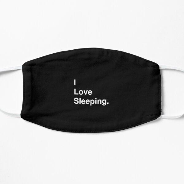 I Love Video Sleeping Simple Text Flat Mask