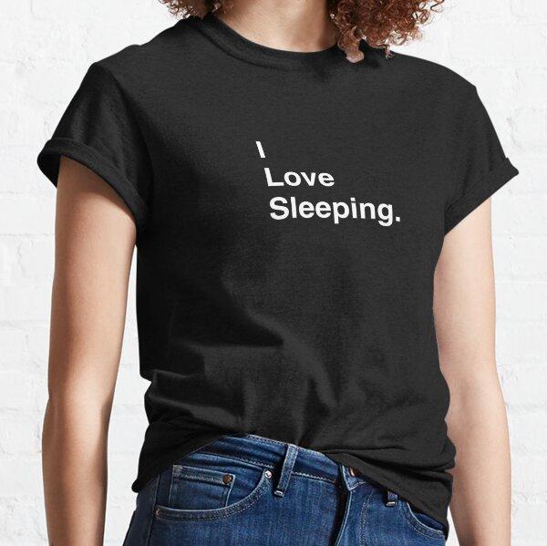 I Love Video Sleeping Simple Text Classic T-Shirt