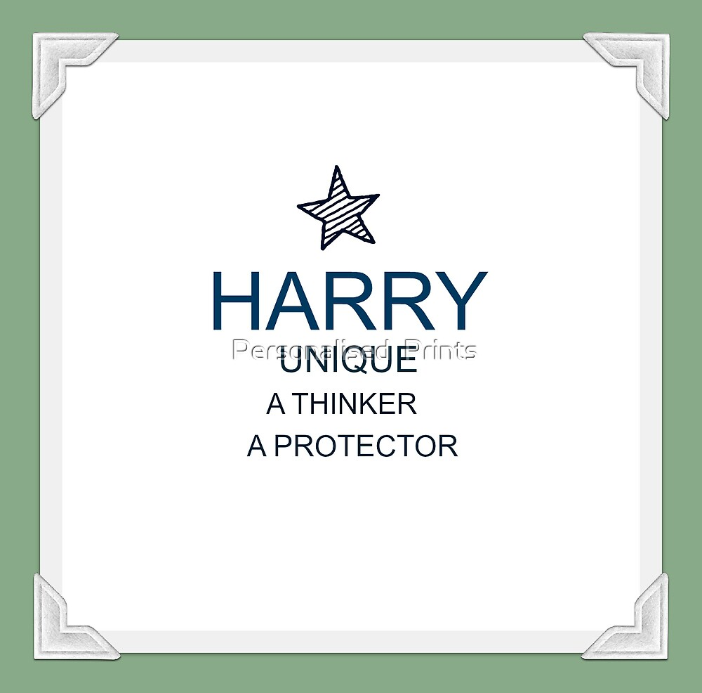 Harry  by Personalised  Prints