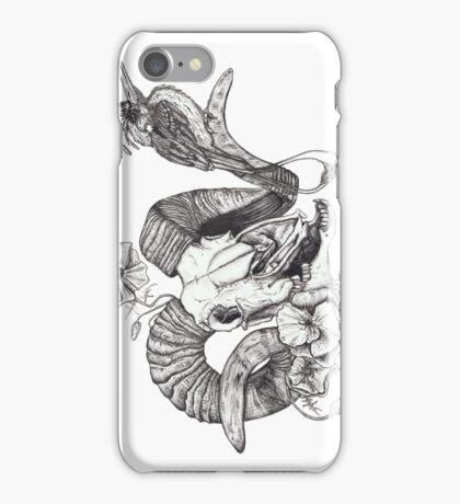 The Ram skull and bird iPhone Case/Skin