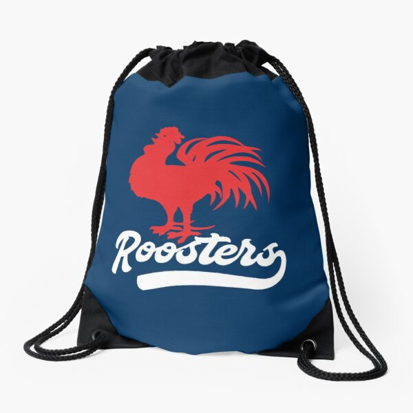 Sydney Roosters NRL - Red Cockerel - White Text with Tail on Rooster Blue! Drawstring Bag