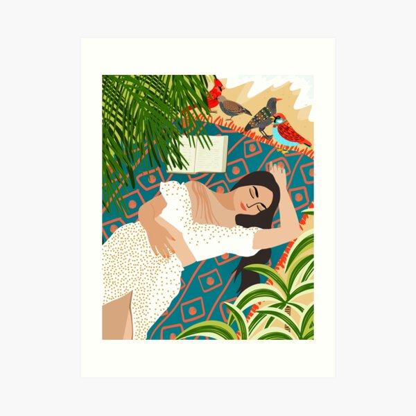 Beach. Read. Sleep. Repeat. #illustration Art Print
