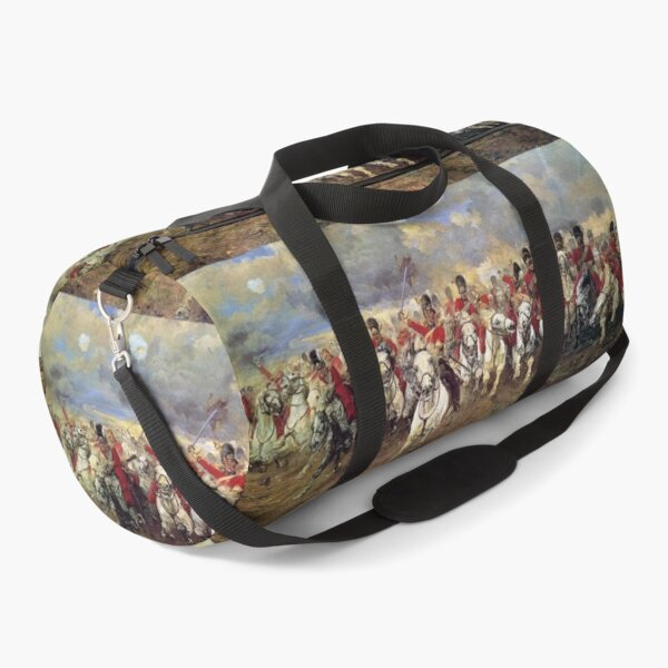 Scotland Forever! 1881, Battle of Waterloo, Lady Butler, Charge of the Royal Scots Greys. Duffle Bag