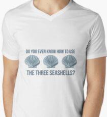 Three Seashells Men's V-Neck T-Shirt