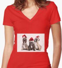 Christmas Choir Women's Fitted V-Neck T-Shirt