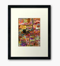 Playful Brushstrokes Framed Print