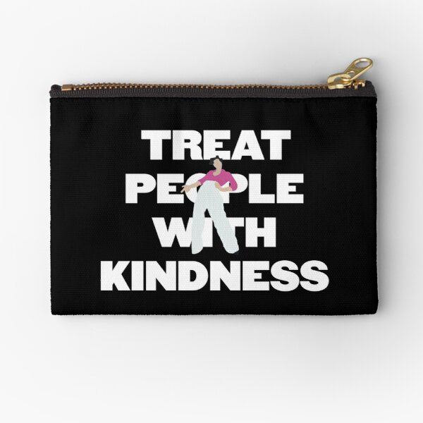 Harry Styles Treat People With Kindness w/ Fine Line Cover Pose - White Zipper Pouch