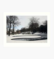Snowy scene Art Print