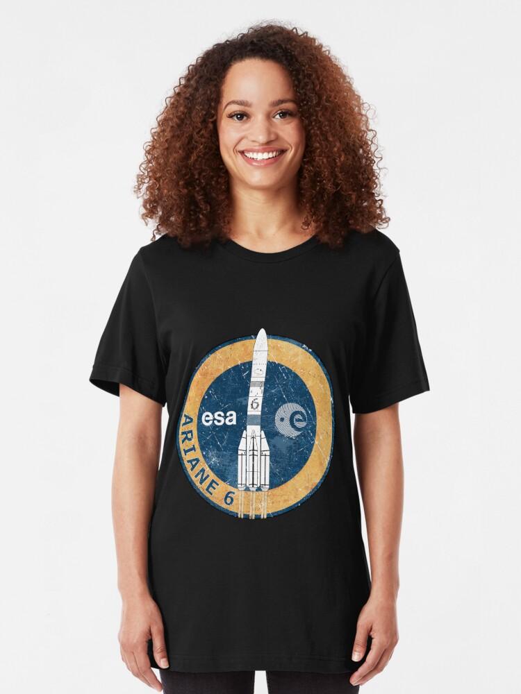 Alternate view of Ariane 6 ESA Badge Slim Fit T-Shirt