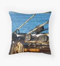 "Block and Tackle, ""SY Picton Castle"" Throw Pillow"