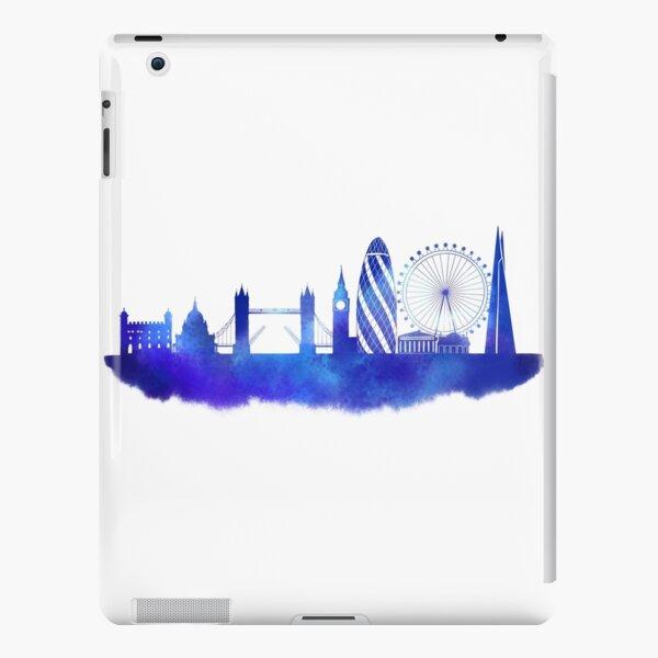 London skyline silhouette in blue watercolour  iPad Snap Case