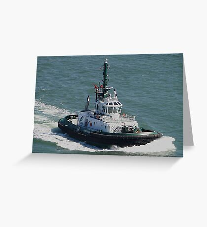 Tractor Tug 'America' Greeting Card