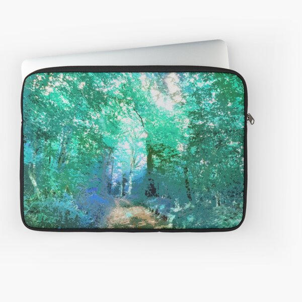 Turquoise countryside Laptop Sleeve