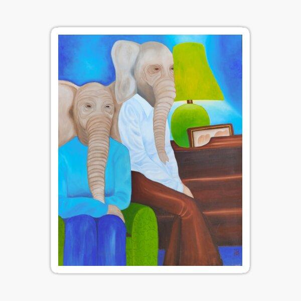 Wisdom of the elephants Sticker