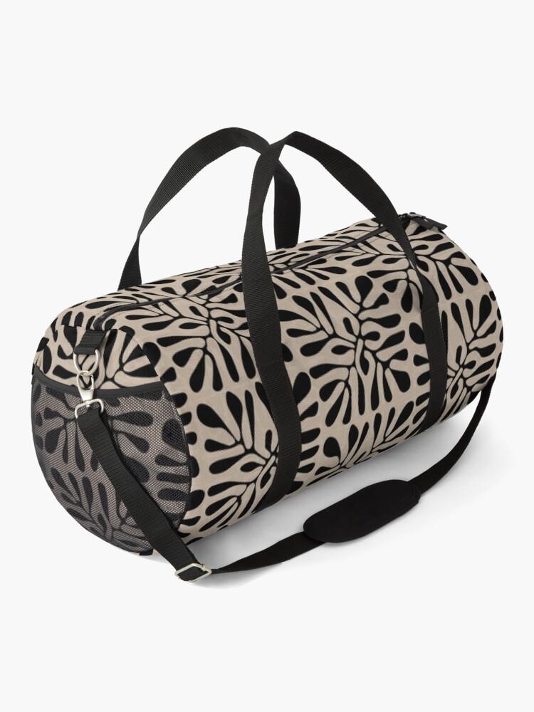 Alternate view of Matisse Design - The Cutout - Brown Black Pattern Duffle Bag