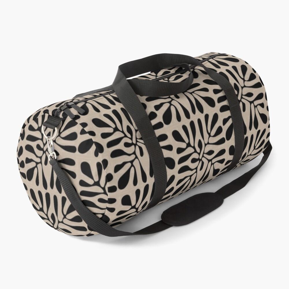 Matisse Design - The Cutout - Brown Black Pattern Duffle Bag