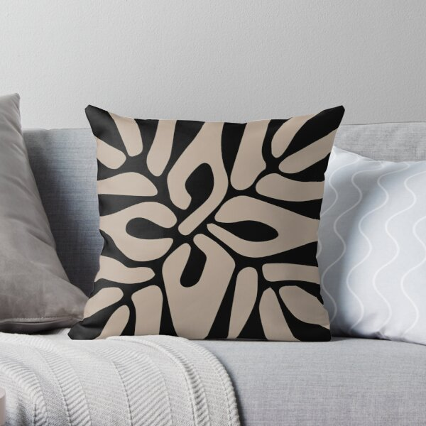 Henri Matisse - The Cutouts - Brown & Black - Prints Throw Pillow