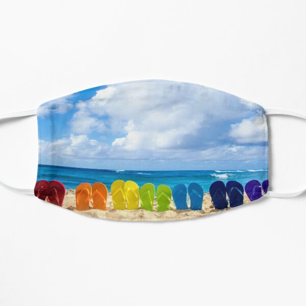 Summer Sea Beach With Colourful Sandals Mask