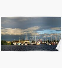 The Golden Hour At Glasson Marina Poster