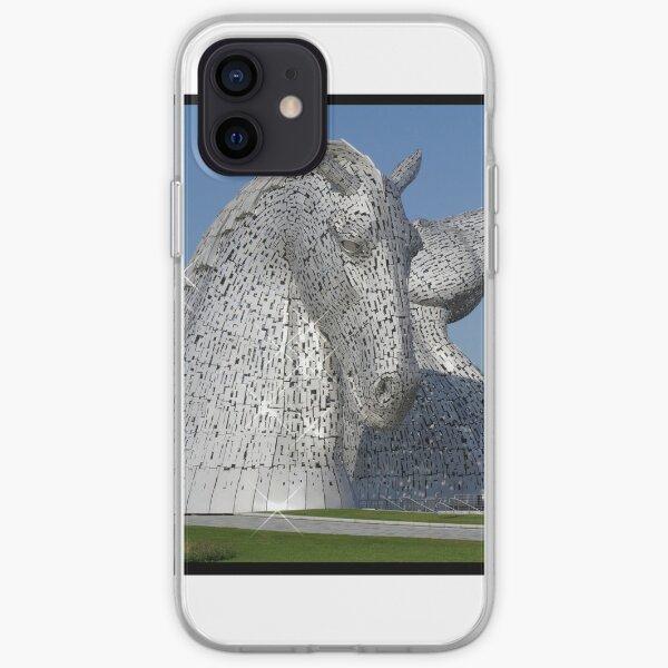 The Kelpies, Helix Park, Falkirk, Scotland iPhone Soft Case
