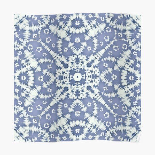 Blue Tie Dye Art Poster