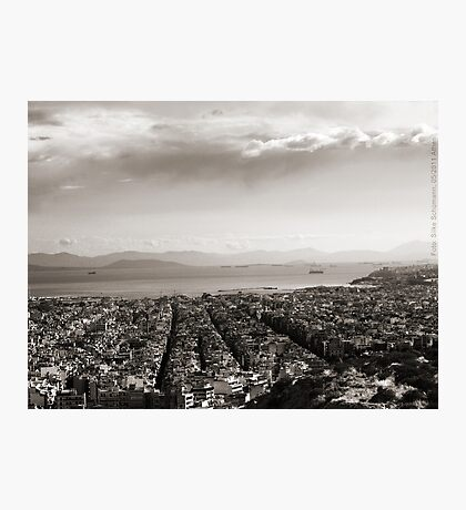 View to Athens Harbor (sepia) VRS2 Photographic Print