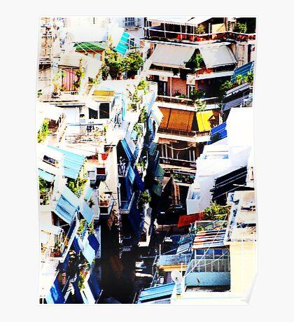 Athens Colorful Back Alley VRS2 Poster