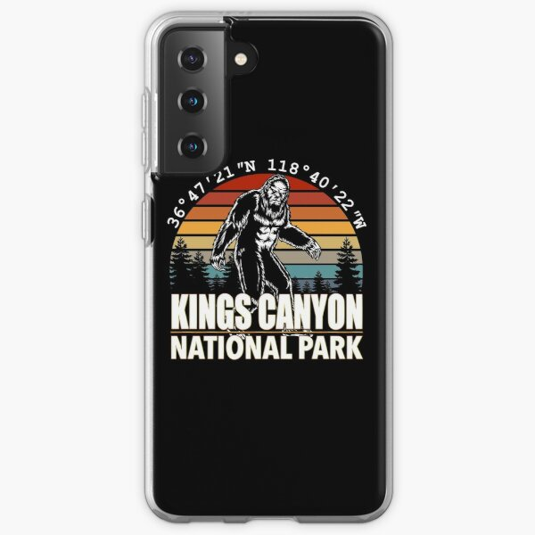 Kings Canyon National Park Bigfoot with GPS Location Samsung Galaxy Soft Case