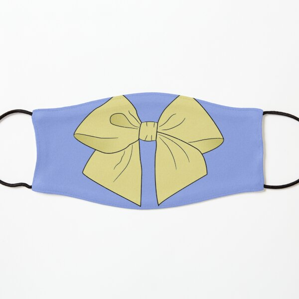 Sunny Yellow Vector Bow  Kids Mask