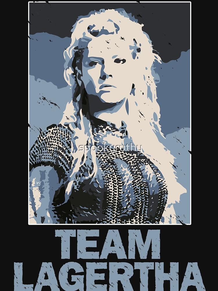 Team Lagertha - Vikings, History Channel | Women's Fitted V-Neck T-Shirt
