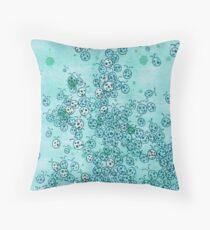 266 Teal Ladybugs Throw Pillow