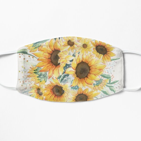 Loose Watercolor Sunflowers Mask