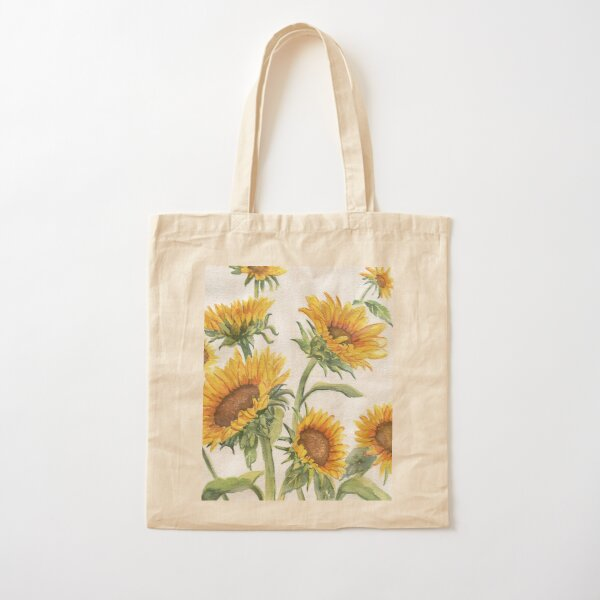 Blooming Sunflowers Cotton Tote Bag