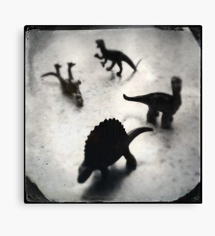 Composition w/ Dinosaurs (2013) Canvas Print