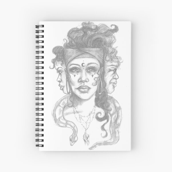 Triple Goddess Spiral Notebook