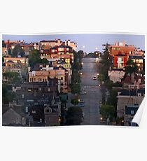 Broadway Street in Pacific Heights Poster