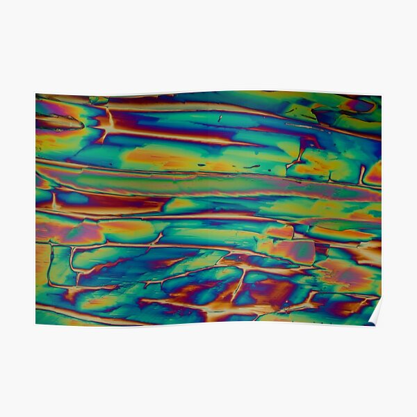 Chemistry - Chemical Crystals (Imidazole) polarised light microscopy photograph Poster