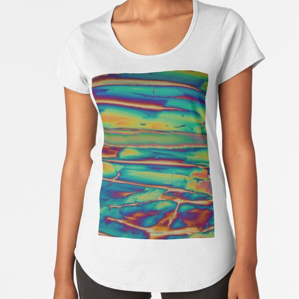 Chemistry - Chemical Crystals (Imidazole) polarised light microscopy photograph Premium Scoop T-Shirt