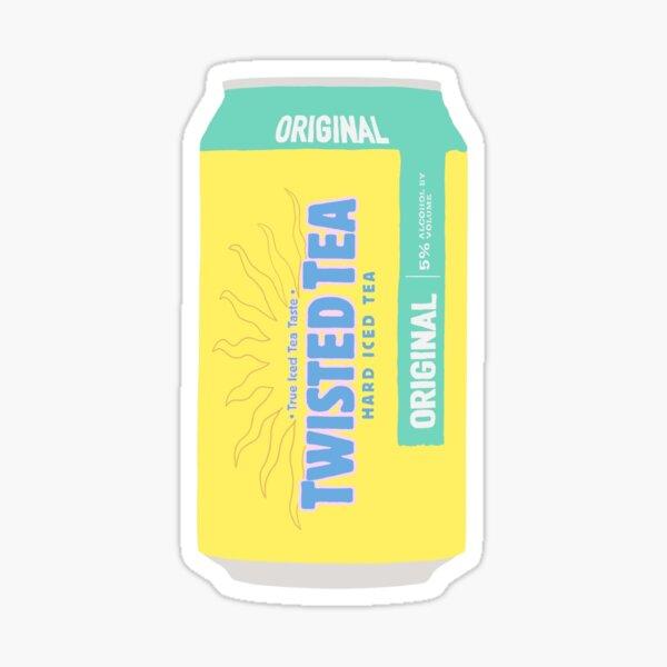 twisted tea yellow Sticker