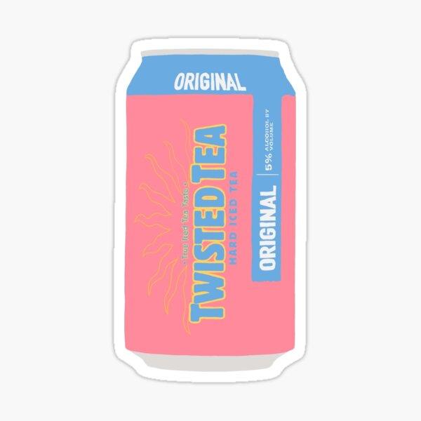 twisted tea pink Sticker
