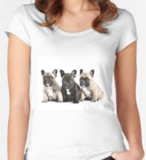 Puppy Pals  Women's Fitted Scoop T-Shirt