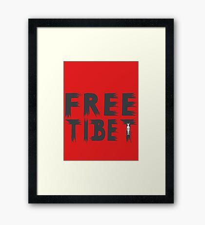 FREE TIBET Framed Print