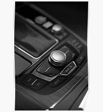 Audi 2013 Console in B&W Poster