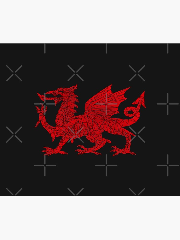 Welsh Dragon - Geometric by Jonrjones