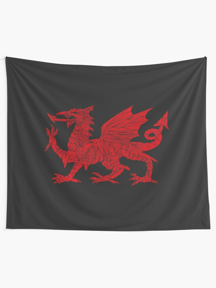 Alternate view of Welsh Dragon - Geometric Tapestry
