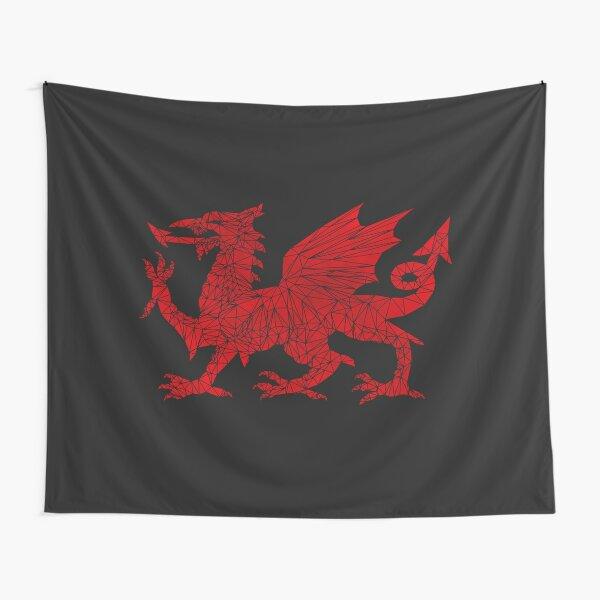Welsh Dragon - Geometric Tapestry