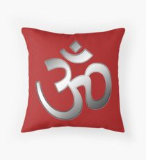 OM or AUM Throw Pillow