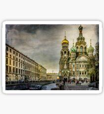 Church of  Savior on Spilled Blood ,Saint-Petersburg Sticker
